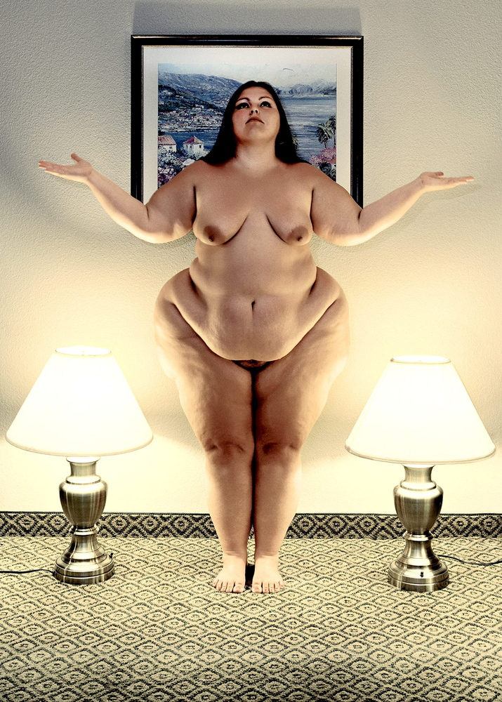 Woman nude fat