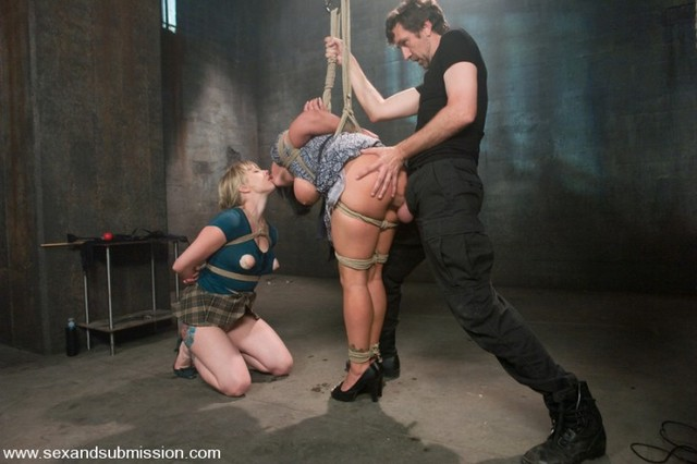 bondage sex hardcore hardcore threesome one are bondage better