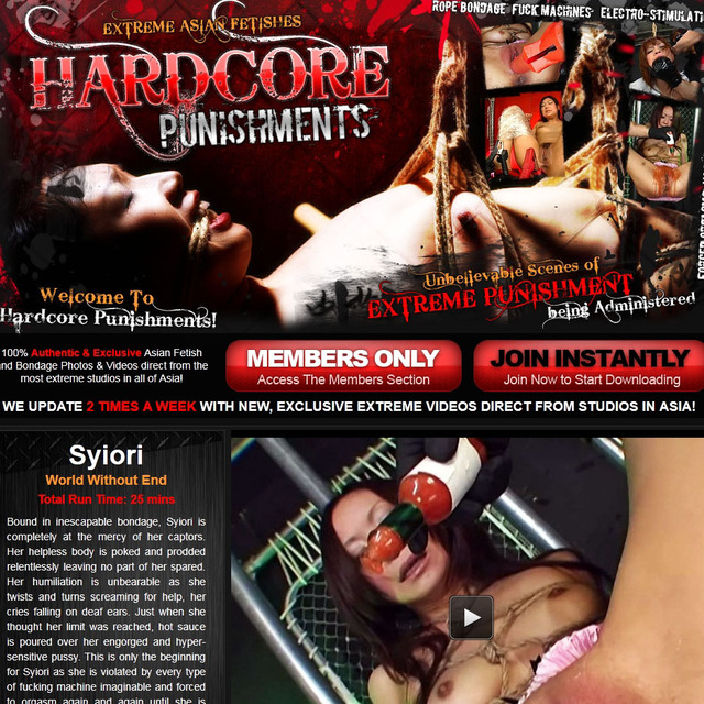 extreme and hardcore porn core hard review paysites punishments sponsor hwae