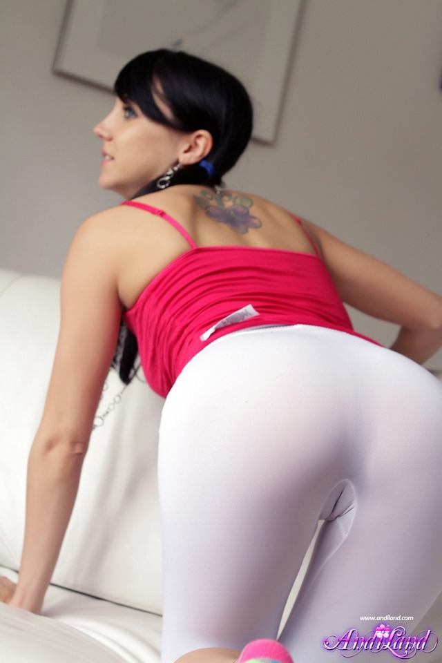 andi land hardcore naked land tight pigtails andi leggings