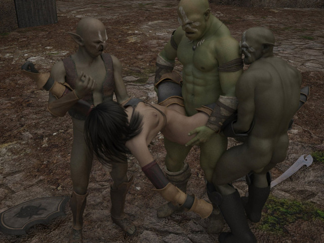 babes hardcore fucking babe fuck threesome gangbang brutal monsters hottest ogres human perform