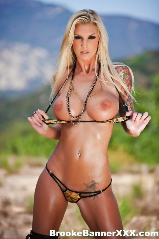brooker banner hardcore bikini outdoor brooke banner