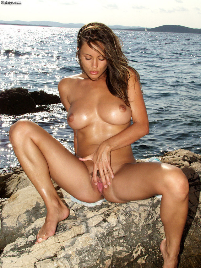 Kyla cole croatia beach