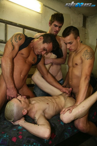 Bang Gang Hardcore Porn staxus hardcore gay gang bang falco white featured scene meaty rubber free knob end