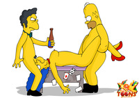 Cartoon Hardcore Sex simpsons porn drunk hardcore fun