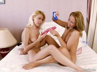 Double Dildo Hardcore picpost thmbs lesbian girls lube double dildo ifs sweet lesbians