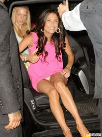Dress Upskirt Pics bethenny frankel pink dress upskirt nyc out york city