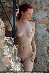 Cooter Hardcore Porn ariel teasing nude onto staircase show little cooter huge breasts