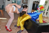 Hardcore Stocking Pics large mikzstmodsj clown hardcore lara latex larasplayground mature stocking milfs ugly sofa