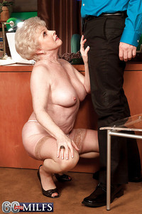 Old Ladies Hardcore pics pictures bossy granny nylon stockings gets old pussy licked office desk
