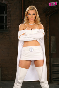 Porn Pics Latest main tanya tate emma frost hustler magazine features cosplay goddess