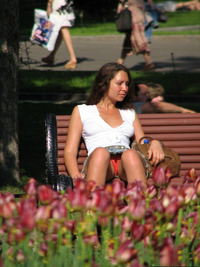 Public Up Skirt Pic park upskirt sitting