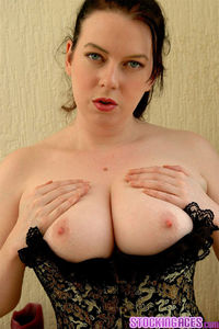 Sex Pics With Big Tits cef woman tits tight corset