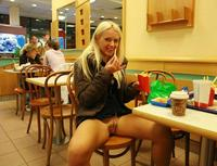 Upskirt Pictures In Public pantyless upskirt mcdonald
