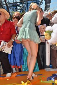 Upskirt Street Photos franziska katzmarek hot upskirt showing ass street