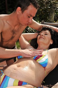 Hardcore Outdoor pics lusty granny bikini helena may gets shagged hardcore outdoor