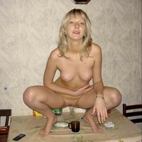 Russian Hardcore blond russian beauty getting herself drunk before hardcore action single photo page