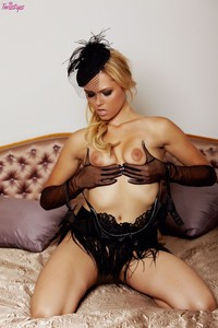 Angelina Armani Hardcore arianna armani black gloves hat clic