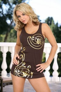 Ashlynn Brooke Hardcore large lskmn zeh blonde babe ashlynn brooke wearing brown dress giving blowjob