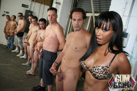 Bella Moretti Hardcore gallery ebony whore bella moretti enjoying redneck gangbang bukkake