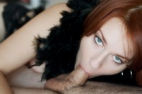 Camille Crimson Hardcore redhead milf camille crimson turns blowjobs art