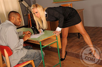 Carla Cox Hardcore gallery carla cox teacher nightschool one student coloured guy who always but seems more interested shoes teaching day him study that turned some