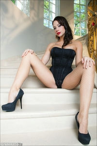 Chanel Preston Hardcore chanel preston brazzers penthouse pet black corset classy red lipstick foot fetish