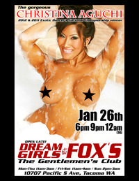 Christina Aguchi Hardcore christina aguchi flyer foxs check out this january