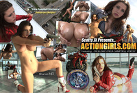Erica Campbell Hardcore actiongirls erica campbell dangerous heights large poster