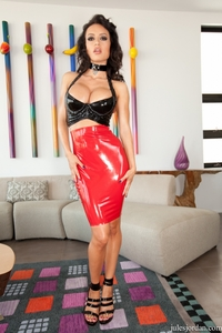 Franceska Jaimes Hardcore franceska jaimes hardcore latex dress brings black cock home