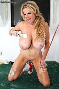 Kelly Madison Hardcore pics kellymadison painting
