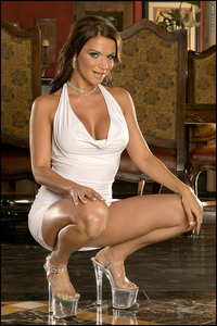 Rebecca Rayann Hardcore rebeccarayann premium rebecca rayann buxom brunette lowers tight white dress