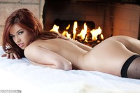 Sabrina Maree Hardcore gallery penthouse fireplace sabrina maree naked front roaring warm beautiful natural